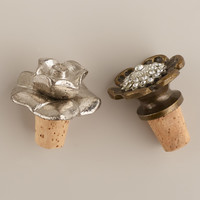 Metal Flower Wine Stoppers, Set of 3 - World Market