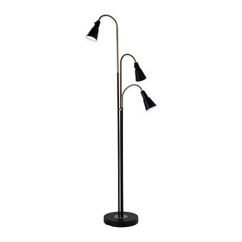 KVART Floor lamp with 3-spotlights, black - IKEA