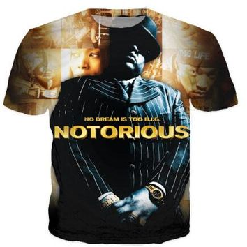 NO DREAM IS TOO Notorious B.I.G. 3D T-Shirt