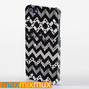 Chevron Astec Black Devil iPhone 4/4S, 5/5S, 5C Series Full Wrap Case