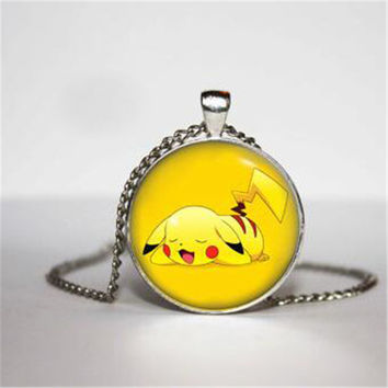 Pikachu Necklace, Pokemon Necklace, Idea Gamer Gear for Her, for Him