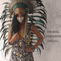 Tribal Goddess - MEDIUM Leopard and Soft Tan Leather White Into Black with Turquoise Feather Headdress by Paradise Gypsies