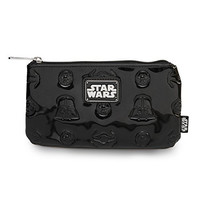 Star Wars Darth Vader & Darkside Icons Glossy Black Embossed Coin/Cosmetic Bag