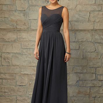 Morilee 20451 Illusion Neck Bridesmaid Dress