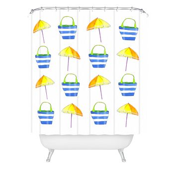 Laura Trevey Holiday Shower Curtain