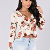 In For The Kill Top - Ivory