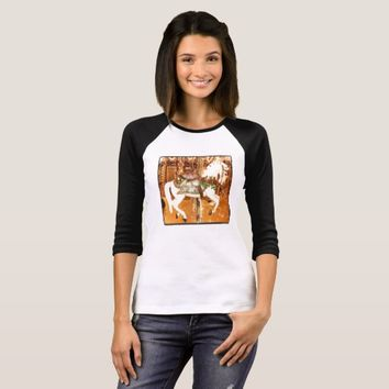 Carousel horse vintage photo print bag T-Shirt