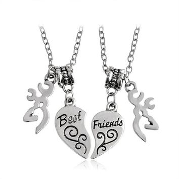 Best Friends Buck Necklaces 2 pc Set