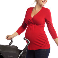 Ripe Harwood Cross Front Maternity Top