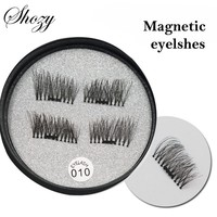 Shozy 4 Pcs/Pair Convenient Magnetic Eyelashes Eye Beauty Makeup Accessories Soft Hair Thick False Eyelashes Fake lashes-ECT010