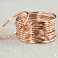 Thin Round Copper Stacking Rings, Pure Copper, Copper Stacking Ring, Copper Jewelry, Dainty Copper Ring, Copper boho Ring, arthritis ring