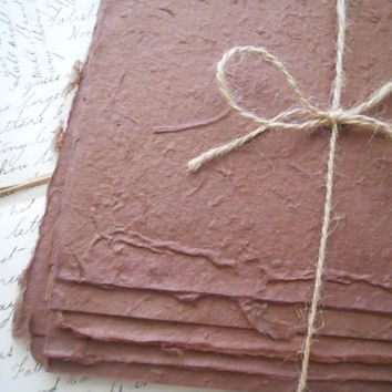 5 Sheets Rusty Brown Handmade Mulberry Paper by ZoeAmaris on Etsy