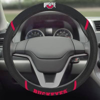 Ohio State Buckeyes Steering Wheel Cover - Mesh/Stitched