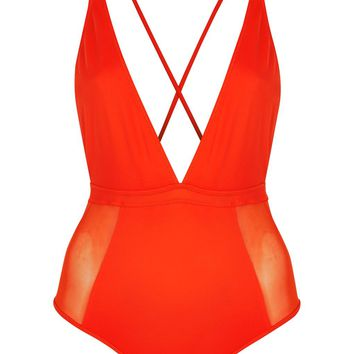 Mesh Swimsuit | Topshop