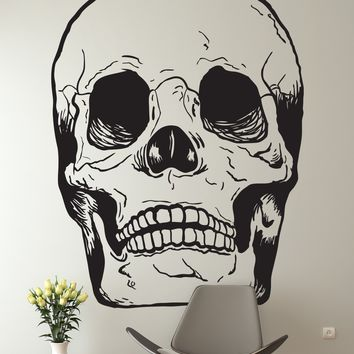 Vinyl Wall Art Decal Sticker Skull Head Bone #127