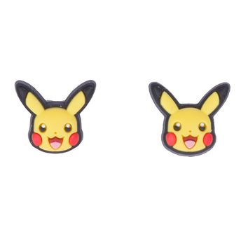 Licensed cool POKEMON GO PIKACHU Costume Cosplay POST STUD Rubber/Metal EARRINGS Nintendo NEW