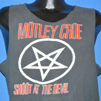 80s Mötley Crüe Shout at the Devil Tank Top t-shirt Large