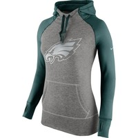 Philadelphia Eagles Nike Women's Platinum All Time Performance Hoodie – Charcoal