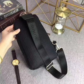 BURBERRY MEN'S FASHION CASUAL LEATHER CHEST PACK BAG CROSS BODY BAG
