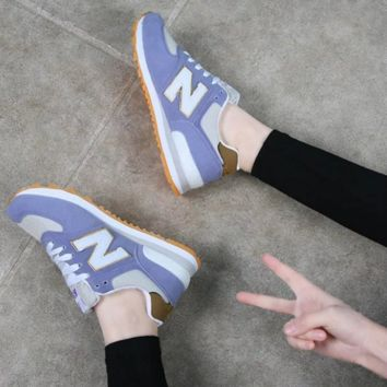 NEW BALANCE Women Men Casual Running Sport Shoes Sneakers N light blue