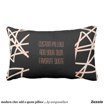 modern chic add a quote pillow bold abstract