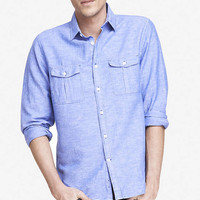 linen-cotton two pocket shirt from EXPRESS