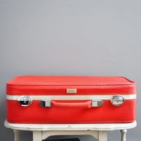 Bright Red Amelia Earhart Suitcase  SoftSided von thewhitepepper