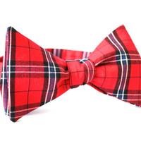Holiday Plaid Bow Tie Handmade by Lord Wallington / Men's Bow Tie / Christmas Bow Tie / Christmas Plaid Bow Ties For Men