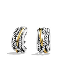 Crossover Earrings with Gold - David Yurman - Silver