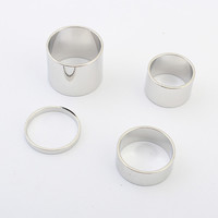 Strong Character Fashion Accessory Stylish Metal Ring Set [4918802692]