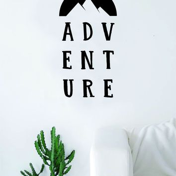 ADVENTURE Quote Wall Decal Sticker Bedroom Living Room Art Vinyl Beautiful Inspirational Motivational Travel Adventure Teen Wanderlust