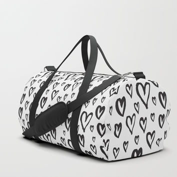 Inky Dinky Hearts Duffle Bag by allisone