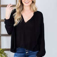 Spare It All Blouse- Black