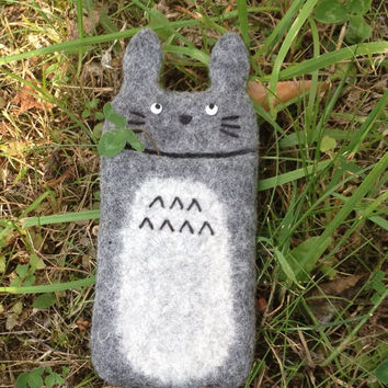 Cover/Case/Wool Felt/fit iPhone 4s/5/5s/6/Grey/Totoro/Wool Sleeve/Geekery Gift