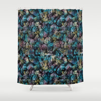 Crystal Points  Shower Curtain by Deborah Ballinger Illustration