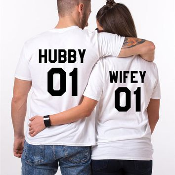 Hubby Wifey Couples Shirt
