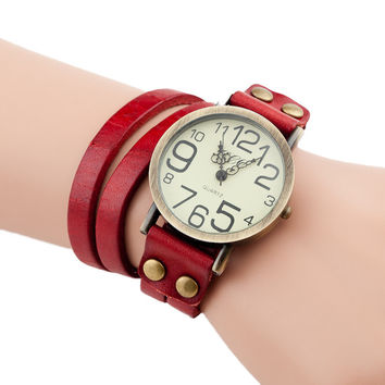 Wrap Vintage Watch (Red)