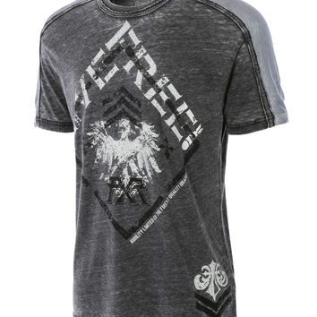 LE3NO Mens Vintage Short Sleeve Graphic Print Tee (CLEARANCE)