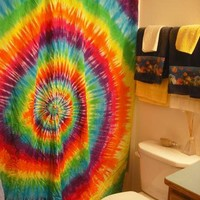 Tie dye Custom Shower Curtain