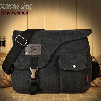 Men messenger bag vogue canvas pattern brand denim briefcase versatile business male vintage mens bags school satchel