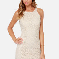 Lacer Vision Cream Lace Dress