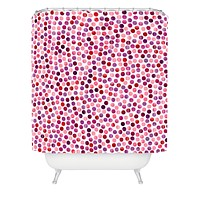 Garima Dhawan Watercolor Dots Berry Shower Curtain