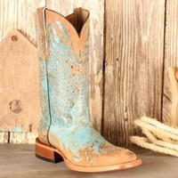 Johnny Ringo Ladies' Turquoise Studded Boots