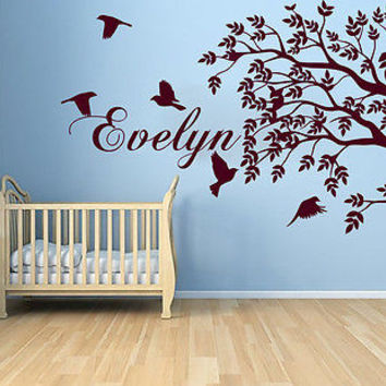 Personalized Name Wall Decal Vinyl Sticker Home Decor Nursery Bedroom Art LM28