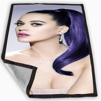 Katy Perry Beauty Singer Photo Movie Blanket for Kids Blanket, Fleece Blanket Cute and Awesome Blanket for your bedding, Blanket fleece *