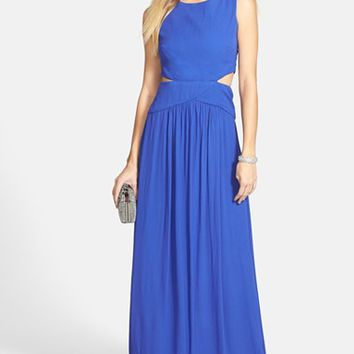 Women's Nicole Miller 'Queen of the Night' Georgette Gown,