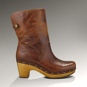 One-nice™ UGG Women Fashion Leather Winter In Tube Boots Heels Shoes