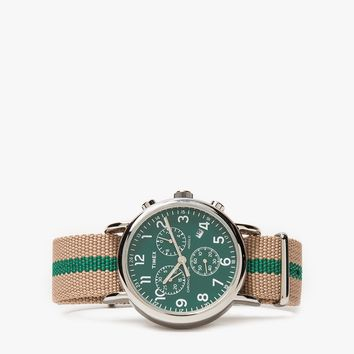 Timex Archive / Weekender Chrono in Steel/Green
