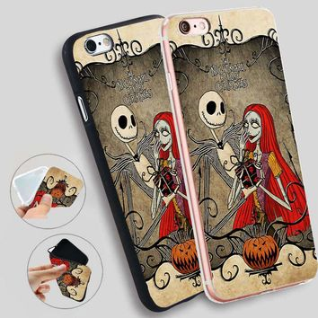 Minason Jack Skellington The Nightmare Before Christmas Soft Silicone Case for iPhone X 5 S 5S 6 6S 7 8 Plus Cover Phone Fundas