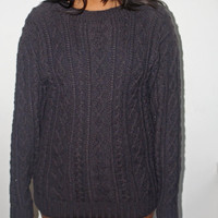 Vintage Grey-purple Sweater